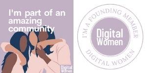 Digital Women member purple round logo