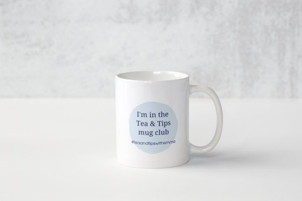 white fresh approach digital mug