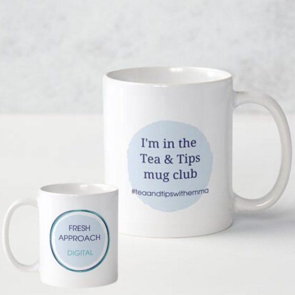 white ceramic 325ml mug